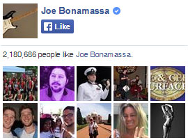 Joe Bonamassa on Facebook. 2,180,686 people like Joe Bonamassa. Yay!