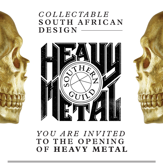 Collectable South African Design Southern Guild Heavy Metal Invitation